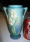 ANTIQUE ROSEVILLE USA AMERICAN ART DECO URN POTTERY FLOWER GARDEN BLUE IRIS VASE
