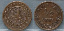 Nederland - The Netherlands halve cent 1884 -  1/2 cent 1884
