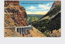VINTAGE POSTCARD NATIONAL STATE PARK YELLOWSTONE GOLDEN GATE CANYON #6