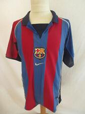 Maillot de football vintage FC Barcelone N° 11 RIVALDO Nike Taille 12 ans