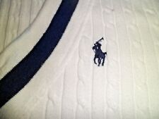 Ralph Lauren Sport 100% Cotton Short sleeve White Jumper Medium