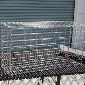 Gabion Cage 975mm L x 300mm W x 525mm H, 75x75mm, AL-TEN Garden Bench, Edge