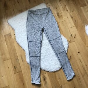 Gymshark Seamless High Waisted Leggings Grey Marl Pattern Size Medium