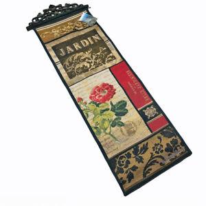 Fleur Market Rose Garden Baroque Jardin Flowers Tapestry Wall Hanging Panel