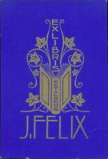 'J Felix'  Catalogus Bookplate    (JC.104)