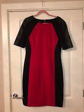 Black Red Smart Dress Faux Leather Plus Size 18 Work Office Smart Celeb Sexy Zip