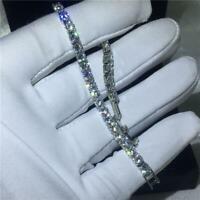 6.00 Ct Sparkle Diamond Tennis Bracelet 14K White Gold Christmas Sale For Women