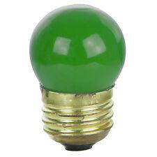 (4 Pack) 7.5-Watt S11 Medium Base 7.5S11 Incandescent Sign Light Bulb Green NEW!