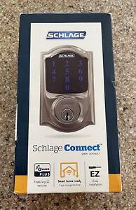 Schlage Sense Smart Deadbolt - Satin Nickel Camelot - BRAND NEW Factory Sealed