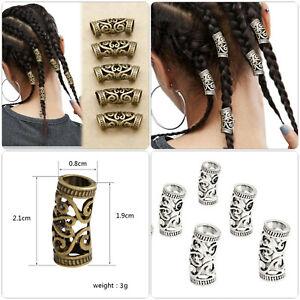 4 Stück Rastafari Dreadlocks Haarschmuck Reggae Haarperle Wikingerschmuck LARP