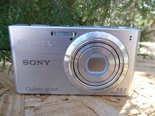 Sony Cyber-shot DSC-W610 14.1MP Digital Camera - Silver w/ Battery + 16G SD Card