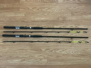 """2 PACK OKUMA CLASSIC PRO 7'0""""  LEAD CORE TROLLING ROD CHARTREUSE TIP CP-LC-70-CT"""