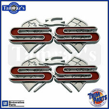 "1961 Chevrolet Impala ""SS"" X Cross Flag Quarter Panel Emblems - Trim Parts"