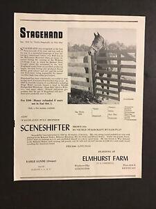 STAGEHAND ORIGINAL 1948 ELMHURST FARM STUD AD