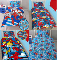 NEW Spiderman Superhero REVERSIBLE Duvet Cover/Quilt Bedding Set Kids Boys Girls