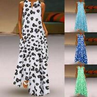 Womens Summer Bohemian Kaftan Maxi Dress Casual Vintage Daisy Long Dress UK 8-22