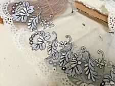 Hologram Sequins lace applique motif  dress dance costume 4 Col #2-1