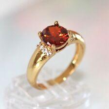 Wunderschöner DamenRing Gold 14 K GF (585) Rubin Granat rot Gr. 60 Ø 19,1 mm