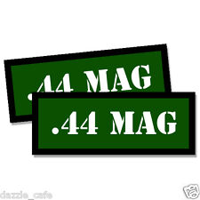 44 MAG Ammo Can Stickers Ammunition Gun Case Labels 3 inch GREEN Decals 2 pack