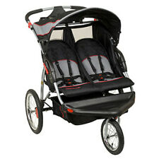 Baby Trend Expedition Swivel Travel Jogging Double Baby Stroller, Millennium