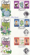 UNION ISL 1982 BIRTH OF PRINCE WILLIAM SET 3 TAB GUTTER PAIRS 3 FIRST DAY COVERS