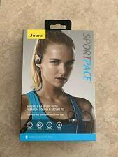 NEW Jabra Sport Pace Bluetooth Wireless Earbuds Blue Premium Sound Secure Fit