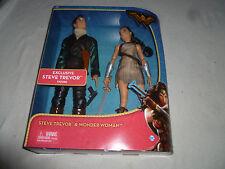 "New In Box Steve Trevor & Wonder Woman 2 Pack 12"" Figure Set Dc Comics Mattel >"
