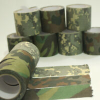 Adhesive Tape Elastic Wrap band Camouflage Bandage Roll Hunting Accessories