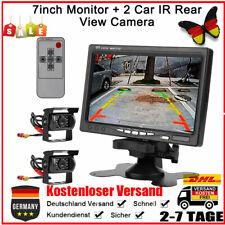 "2Tlg IR Rückfahrkamera Mit 7"" Monitor Video Funk Nachtsicht Kit Für RV LKW KFZ G"