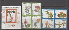 Philippine Stamps 1998 Flowers of the Philippines 8v set & Souvenir sht MNH cpl