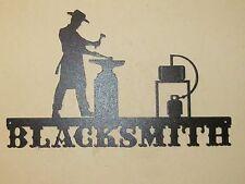 CUSTOM MODERN BLACKSMITH SIGN TEXTURED BLACK POWDER COAT FINISH