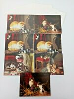 Robert Frederick Ltd Lot of 7 Vintage 1996 Blank Cat Greeting Cards Collectible