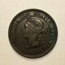 1887 Canada Cent Coin, Victoria, KM# 7, XF
