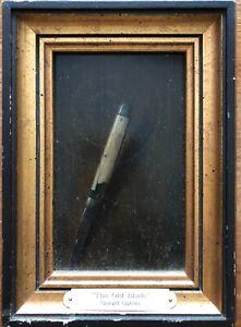 """THE OLD BLADE"" LISTED ARTIST GERALD C GATSKI, MASTER OF TROMPE L'OEIL"