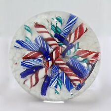 Ed Rithner Candy Cane Art Glass Paperweight - GL