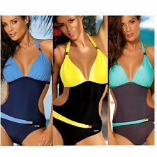 Womens Swimsuit Push Up Padded Bikini Swimwear Bathing Suit One Piece Monokini