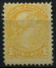 Canada 1870-90, 1c GIALLO QV MH #d45014