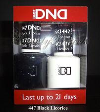 DND Daisy Soak Off Gel Polish Black Licorice 447 full size 15ml LED/UV gel duo