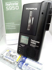 Olympus Pearlcorder S950 MicroCassette Voice Recorder Dictaphone Dictation BLACK
