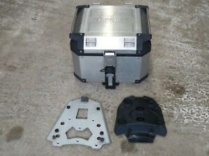 GENUINE TRIUMPH EXPEDITION TOP BOX C/W MOUNTING PLATES FOR TIGER XR 800 2011-14