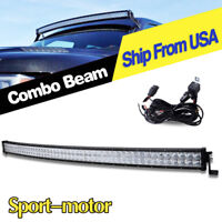 Curved 52inch 700W LED Light Bar Flood Spot Roof Driving Truck Boat SUV 4WD 50''