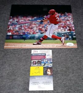 Bryce Harper Signed 8x10 Jsa Washington nationals
