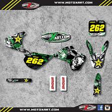 Full Custom Graphic Kit Kawasaki KX 80 - 1992 stickers / decals GRAFFITI STYLE