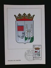 SPAIN MK 1966 ESCUDO ZAMORA WAPPEN BLAZON MAXIMUMKARTE MAXIMUM CARD MC CM c5589