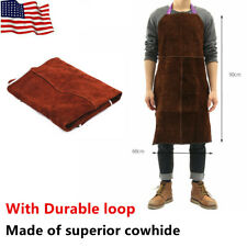 Welder Apron Welding Protective Gear Equipment Cowhide Leather Heat Insulation