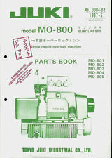 Juki MO-800 Industrial Sewing Machine Orig Factory Illustrated Parts List Manual