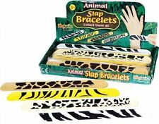 24 ANIMAL PRINT SNAP BRACELETS- PARTY BAG TOYS-JUNGLE-POCKET MONEY TOYS