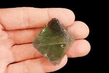 "Fluorite Octahedron 2"" Rock Mineral Specimen Heart Chakra Healing Crystal Gem"