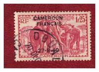 CAMEROUN  .  N° 223 .   1 F 25     OBLITERE  . SUPERBE