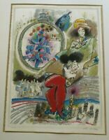 THEO TOBIASSE ABSTRACT EXPRESSIONISM LITHOGRAPH  LIMITED MODERNIST SIGNED RARE